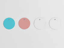 Шаблон модель-макета бирок покупок установленный Стоковые Фотографии RF