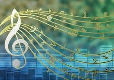 Шаблон музыки Стоковое Изображение