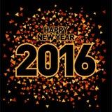 Шаблон 2016 Нового Года Стоковые Фотографии RF