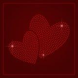 Шаблон дня валентинок страза Стоковое Изображение RF