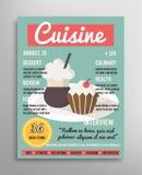 Шаблон обложки журнала Слой еды blogging Стоковая Фотография