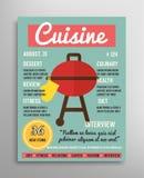 Шаблон обложки журнала Слой еды blogging Стоковое Изображение RF