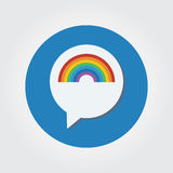 Шаблон логотипа болтовни радуги иллюстрация штока