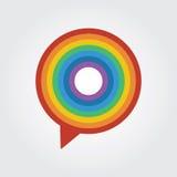 Шаблон логотипа болтовни радуги иллюстрация вектора