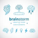 Шаблон логотипа бредовой мысли абстрактный творческий Стоковое фото RF