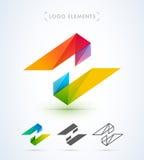 Шаблон логотипа вектора абстрактный Стоковое Изображение