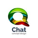 Шаблон логотипа вектора дела - облако болтовни иллюстрация штока