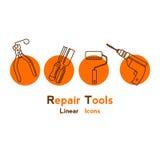 Шаблон логотипа вектора для строя магазинов Стоковая Фотография RF