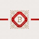 Шаблон логотипа вензеля Стоковое Изображение