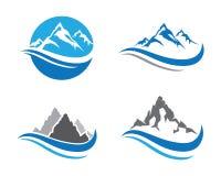 Шаблон логотипа горы Стоковое Изображение