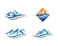 Шаблон логотипа горы Стоковые Изображения