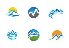 Шаблон логотипа горы Стоковые Фото
