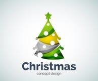 Шаблон логотипа дерева рождества или Нового Года вектора бесплатная иллюстрация