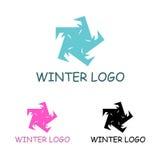 Шаблон логотипа зимы Стоковое фото RF