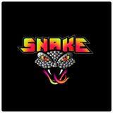 Шаблон логотипа змейки Стоковые Изображения RF