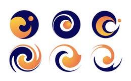 Шаблон логотипа значка волны воды иллюстрация вектора