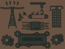 Шаблон логотипа инженерства Стоковая Фотография RF