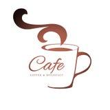 Шаблон логотипа кофе Стоковые Изображения RF