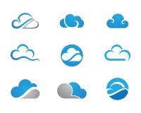 Шаблон логотипа облака Стоковые Фотографии RF
