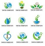 Шаблон логотипа природы Стоковая Фотография RF