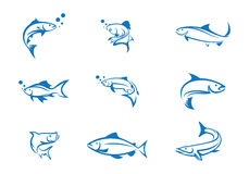 Шаблон логотипа рыб Стоковые Изображения