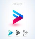 Шаблон логотипа стрелки вектора передний Кнопка игры Стоковые Изображения