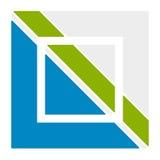 Шаблон логотипа с блокировать, разделенный квадрат Абстрактное geomet иллюстрация штока