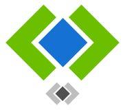 Шаблон логотипа с рамкой и квадратным блокировать Узел, конспект бесплатная иллюстрация