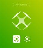 Шаблон логотипа трутня Значок применения Стоковая Фотография