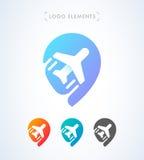 Шаблон логотипа указателя воздушных судн Стоковое Изображение