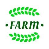 Шаблон логотипа фермы Стоковые Фото