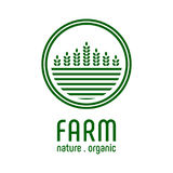 Шаблон логотипа фермы Стоковые Изображения RF