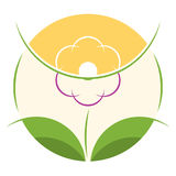 Шаблон логотипа цветочного магазина Стоковые Фото