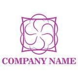 Шаблон логотипа цветочного магазина Стоковые Изображения RF