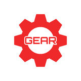 Шаблон логотипа шестерни Стоковое Фото