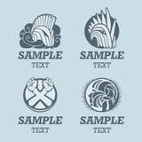 Шаблон логотипа шлема рыцаря Стоковая Фотография