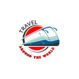 Шаблон логотипа для шины путешествует, агенты по путешествиям, компания перевозки польза Стоковые Изображения RF