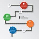 Шаблон дороги infographic Стоковая Фотография