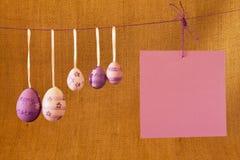 Шаблон пасхальных яя для открытки Стоковые Фотографии RF