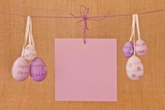 Шаблон пасхальных яя для открытки Стоковое Изображение RF