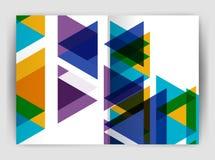 Шаблон печати крышки годового отчета дела треугольника вектора бесплатная иллюстрация