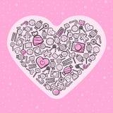 Шаблон поздравительной открытки влюбленности Стоковая Фотография