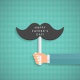 Шаблон поздравительной открытки на День отца Стоковое Фото