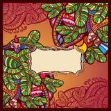 Шаблон поздравительной открытки Нового Года красный Стоковое Изображение RF