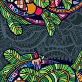 Шаблон поздравительной открытки Нового Года Стоковое Фото