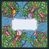 Шаблон поздравительной открытки праздника рождества Стоковое Изображение RF