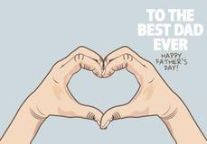 Шаблон поздравительной открытки Дня отца Стоковая Фотография