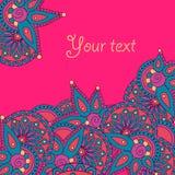 Шаблон поздравительной открытки Doodle Стоковые Изображения