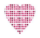 Шаблон поздравительных открыток акварели творческий с сердцем Комплект поднял, кармин, красная рука покрашенный круг изолированны иллюстрация вектора