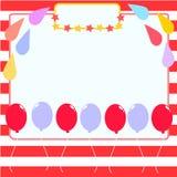 Шаблон поздравительой открытки ко дню рождения Стоковое Изображение